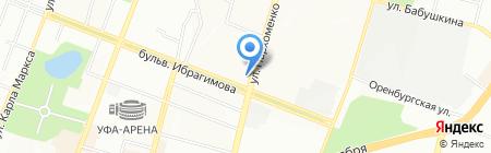 Арсенал-Уфа на карте Уфы