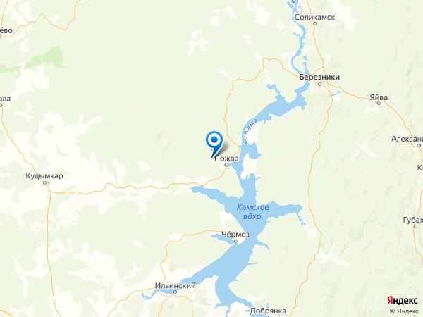 деревня Елизавето-Пожва на карте