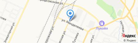 Автостоянка на ул. Менделеева на карте Стерлитамака