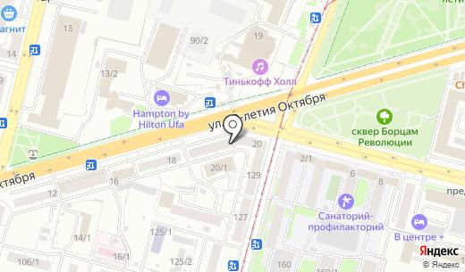 МедиаПринт. Схема проезда в Уфе