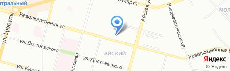 Уфимская школа бизнеса и управления на карте Уфы