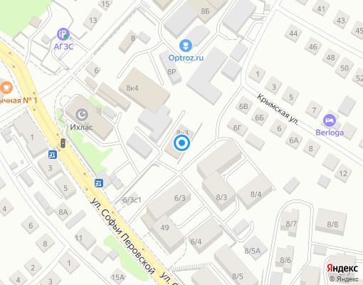 Товарищество собственников жилья «Ихлас» на карте Уфы
