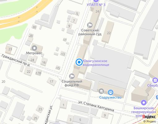 Управляющая компания «Башжилхоз» на карте Уфы