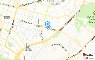 Местоположение на карте пункта техосмотра по адресу г Уфа, ул Кирова, д 128/2