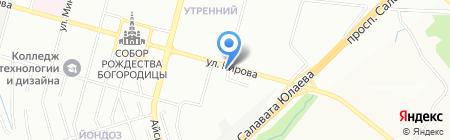 Алюммет на карте Уфы