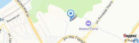 Арета на карте Уфы