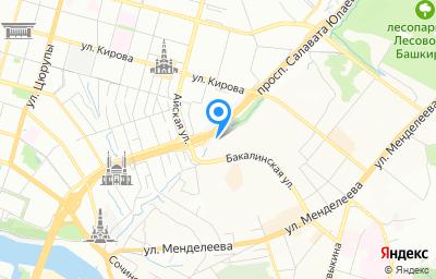 Местоположение на карте пункта техосмотра по адресу г Уфа, пр-кт Салавата Юлаева, д 24