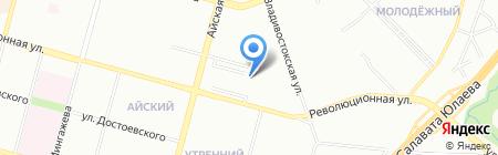 Кламас-Тур на карте Уфы