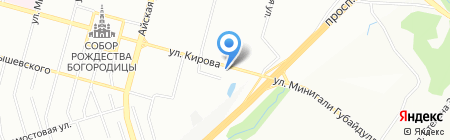 Вся Башкирия на карте Уфы
