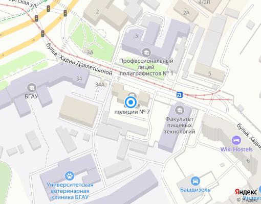 Товарищество собственников жилья «Надежда» на карте Уфы
