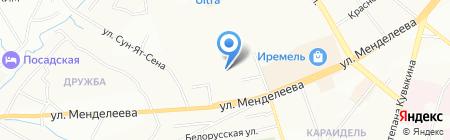 Три табуретки на карте Уфы