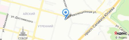 Транском на карте Уфы