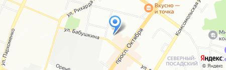 Средняя общеобразовательная школа №100 на карте Уфы