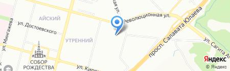 Монумент на карте Уфы