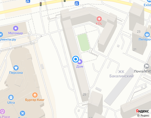 Товарищество собственников жилья «Солнечный» на карте Уфы