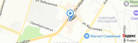 Матрица на карте Уфы