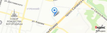Айман на карте Уфы