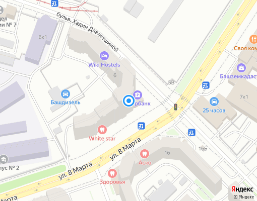 Управляющая компания «СУ-1» на карте Уфы