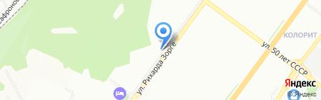 Магазин женского белья на ул. Рихарда Зорге на карте Уфы