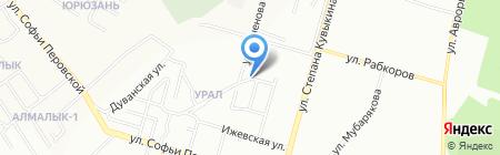 Шонкар на карте Уфы