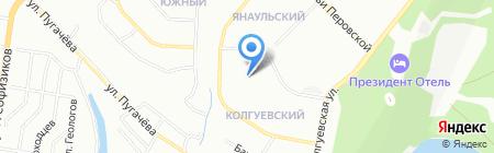 Детский сад №63 на карте Уфы