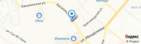 Башстройбыт на карте Уфы