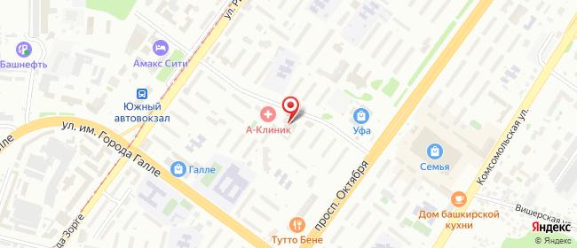 Карта расположения пункта доставки На Универмаге в городе Уфа