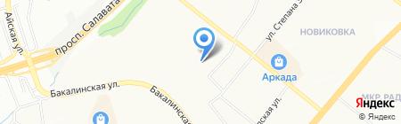 Жаклин на карте Уфы