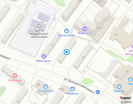 Управляющая компания «ПРОСПЕКТ» на карте Уфы