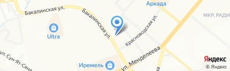 Автоинтерсервис на карте Уфы