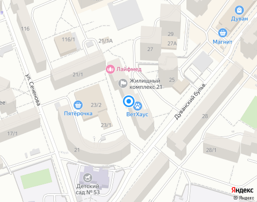Управляющая компания «ЖК 21» на карте Уфы