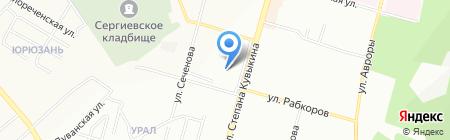 Анюта на карте Уфы