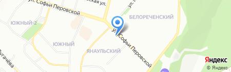 Хорошо-Уфа на карте Уфы