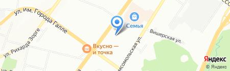 Фабрика оконных конструкций на карте Уфы