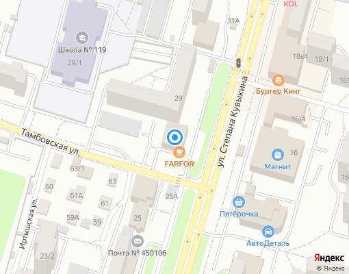 Товарищество собственников жилья «Мастер+» на карте Уфы