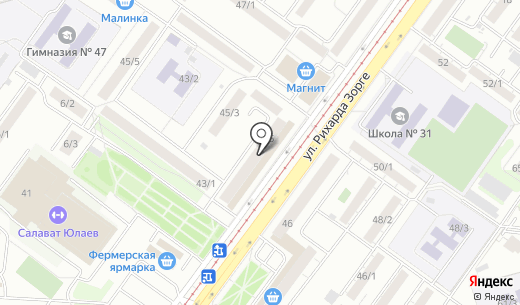КОСА. Схема проезда в Уфе