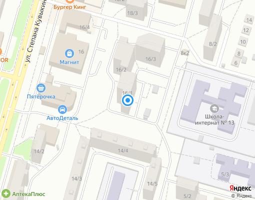 Товарищество собственников жилья «ТРИО» на карте Уфы