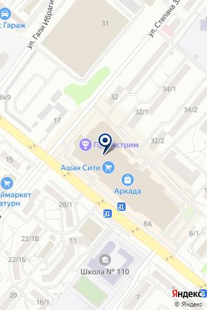 Мир Меха Уфа на карте Уфы