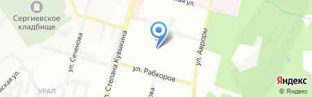 Уфа-Строй на карте Уфы