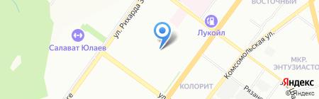 Детский сад №198 на карте Уфы