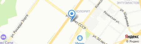 Пилот на карте Уфы