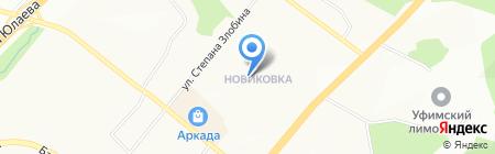 Медуница на карте Уфы