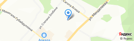 Детский сад №62 на карте Уфы