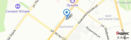 Тропикана турс на карте Уфы