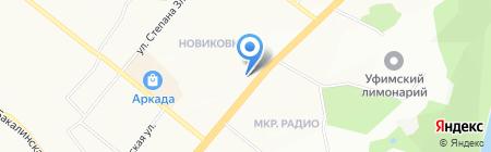 Аскона на карте Уфы