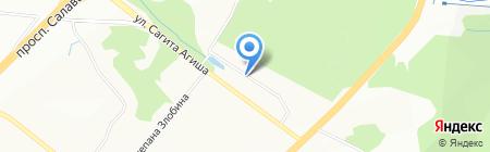 Пласт-Сервис на карте Уфы