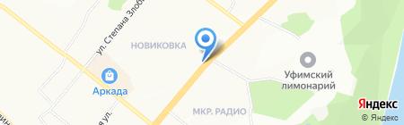 Авто-Уфа на карте Уфы