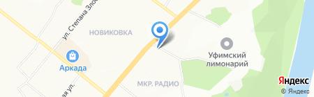 Донесса на карте Уфы