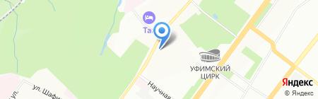 Рекламный променад на карте Уфы