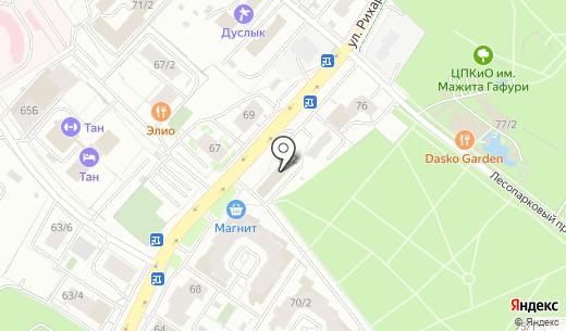Арена. Схема проезда в Уфе